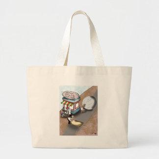 Pizza Cartoon 9366 Large Tote Bag