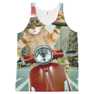 pizza cat - cat - pizza delivery All-Over print singlet
