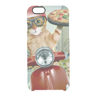 pizza cat - cat - pizza delivery clear iPhone 6/6S case