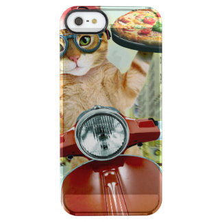 pizza cat - cat - pizza delivery clear iPhone SE/5/5s case
