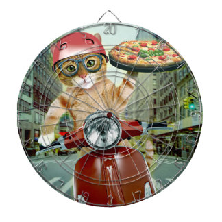 pizza cat - cat - pizza delivery dartboard