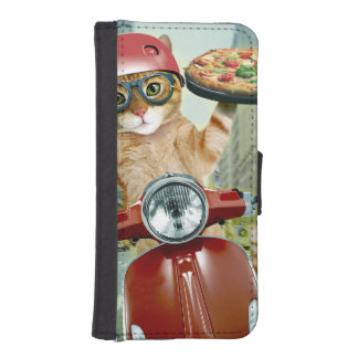 pizza cat - cat - pizza delivery iPhone SE/5/5s wallet case