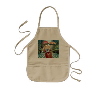 pizza cat - cat - pizza delivery kids apron