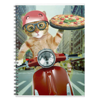 pizza cat - cat - pizza delivery notebook