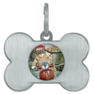 pizza cat - cat - pizza delivery pet name tag