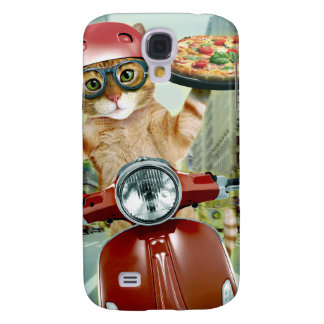pizza cat - cat - pizza delivery samsung galaxy s4 case
