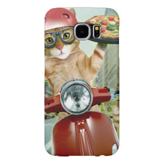 pizza cat - cat - pizza delivery samsung galaxy s6 cases