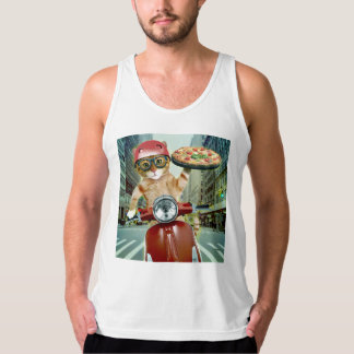 pizza cat - cat - pizza delivery singlet