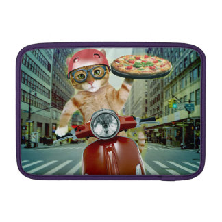 pizza cat - cat - pizza delivery sleeve for MacBook air