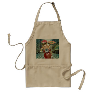 pizza cat - cat - pizza delivery standard apron