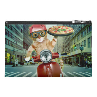pizza cat - cat - pizza delivery travel accessory bag