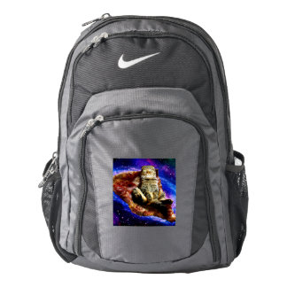 pizza cat - crazy cat - cats in space backpack