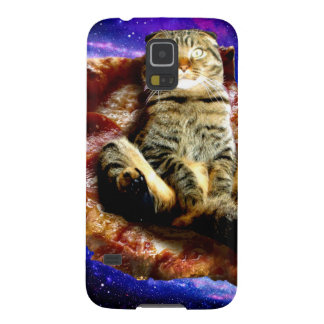 pizza cat - crazy cat - cats in space cases for galaxy s5