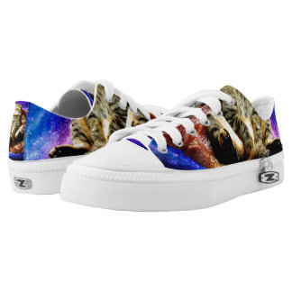 pizza cat - crazy cat - cats in space low tops