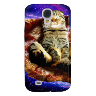 pizza cat - crazy cat - cats in space samsung galaxy s4 cases