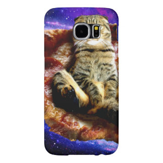 pizza cat - crazy cat - cats in space samsung galaxy s6 cases
