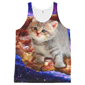 pizza cat - cute cats - kitty - kittens All-Over print singlet