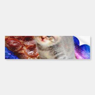 pizza cat - cute cats - kitty - kittens bumper sticker