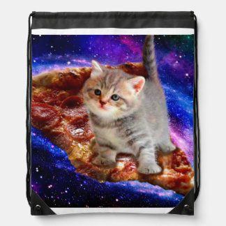 pizza cat - cute cats - kitty - kittens drawstring bag