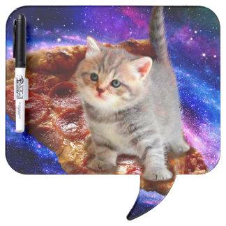 pizza cat - cute cats - kitty - kittens dry erase board