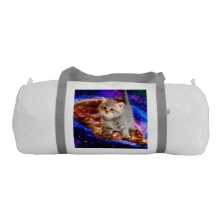 pizza cat - cute cats - kitty - kittens gym duffel bag