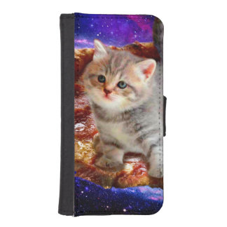 pizza cat - cute cats - kitty - kittens iPhone SE/5/5s wallet case