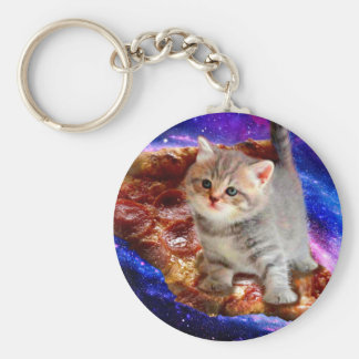 pizza cat - cute cats - kitty - kittens key ring