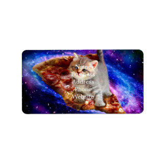 pizza cat - cute cats - kitty - kittens label