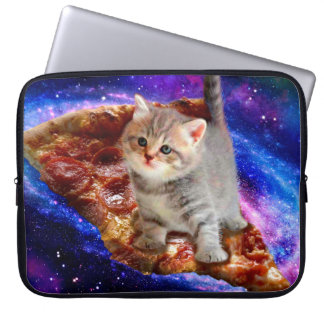 pizza cat - cute cats - kitty - kittens laptop sleeve