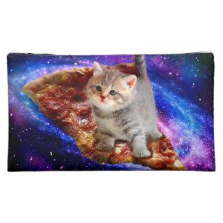 pizza cat - cute cats - kitty - kittens makeup bag