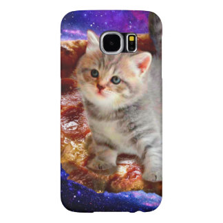 pizza cat - cute cats - kitty - kittens samsung galaxy s6 cases