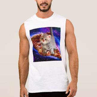 pizza cat - cute cats - kitty - kittens sleeveless shirt