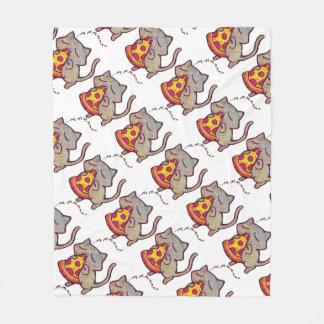 Pizza Cat! Fleece Blanket