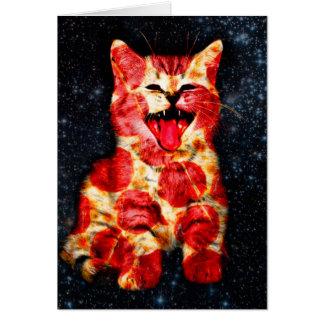 pizza cat - kitty - pussycat card