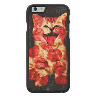 pizza cat - kitty - pussycat carved maple iPhone 6 case