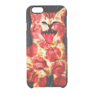pizza cat - kitty - pussycat clear iPhone 6/6S case