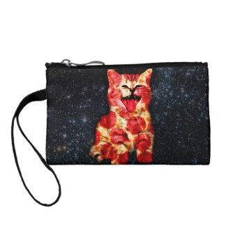 pizza cat - kitty - pussycat coin purse