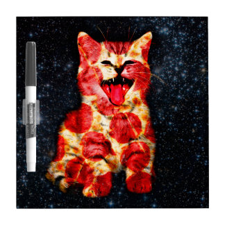pizza cat - kitty - pussycat dry erase board