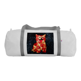 pizza cat - kitty - pussycat gym duffel bag