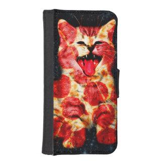 pizza cat - kitty - pussycat iPhone SE/5/5s wallet case