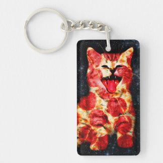 pizza cat - kitty - pussycat key ring