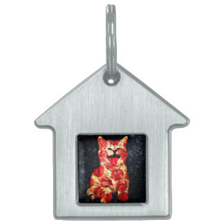 pizza cat - kitty - pussycat pet ID tag