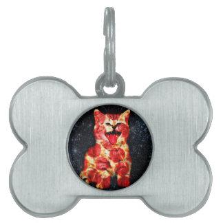 pizza cat - kitty - pussycat pet tag