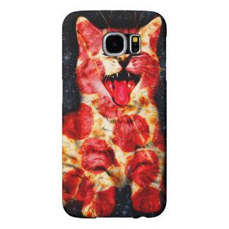 pizza cat - kitty - pussycat samsung galaxy s6 cases