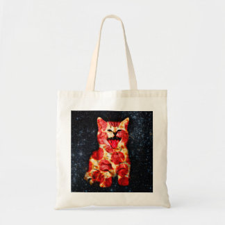 pizza cat - kitty - pussycat tote bag