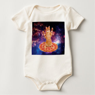 pizza cat - orange cat - space cat baby bodysuit