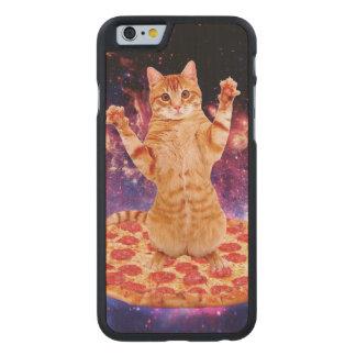 pizza cat - orange cat - space cat carved maple iPhone 6 case