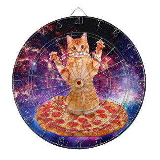 pizza cat - orange cat - space cat dartboard