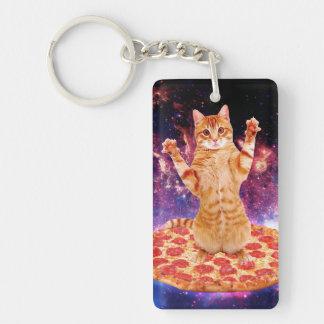 pizza cat - orange cat - space cat key ring