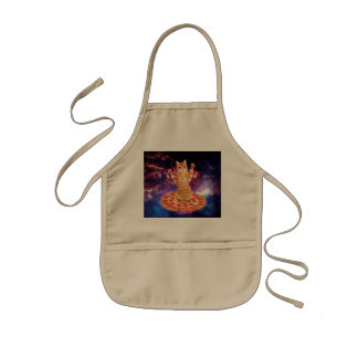 pizza cat - orange cat - space cat kids apron